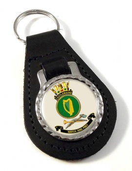 HMAS Castlemaine Leather Key Fob