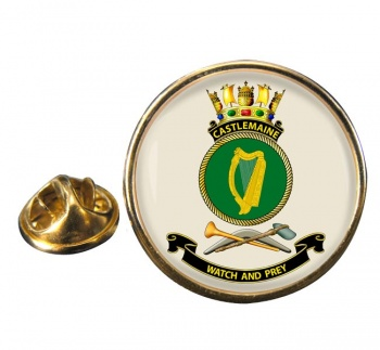 HMAS Castlemaine Round Pin Badge