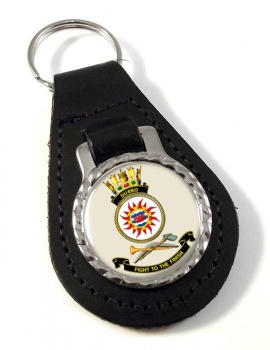 HMAS Dubbo Leather Key Fob