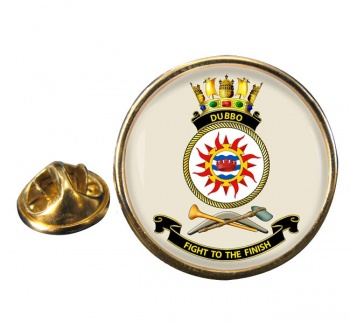 HMAS Dubbo Round Pin Badge