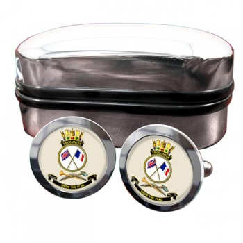 HMAS Encounter Round Cufflinks
