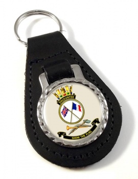 HMAS Encounter Leather Key Fob