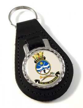 HMAS Farncomb Leather Key Fob
