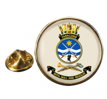 HMAS Farncomb Round Pin Badge