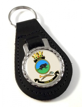 HMAS Huon Leather Key Fob