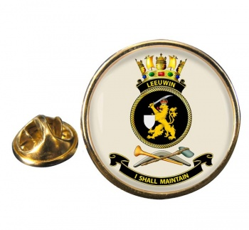 HMAS Leeuwin Round Pin Badge