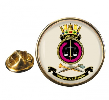 HMAS Lonsdale Round Pin Badge