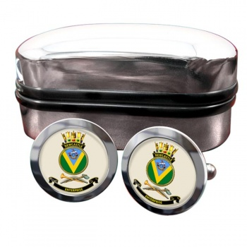 HMAS Newcastle Round Cufflinks