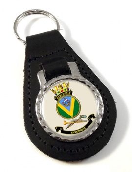 HMAS Newcastle Leather Key Fob