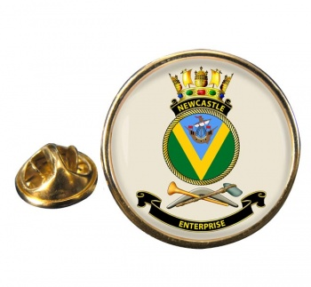HMAS Newcastle Round Pin Badge
