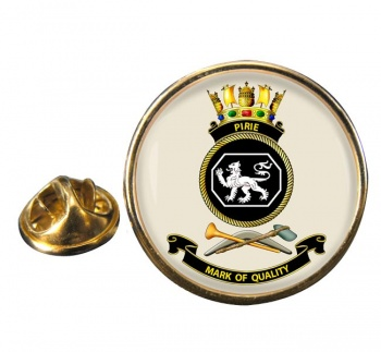 HMAS Pirie Round Pin Badge