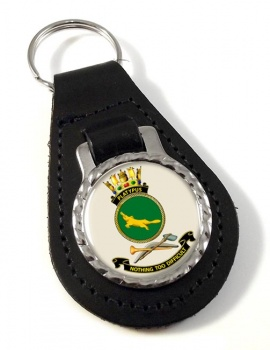 HMAS Platypus Leather Key Fob