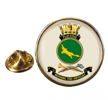 HMAS Platypus Round Pin Badge