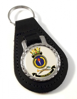 HMAS Success Leather Key Fob