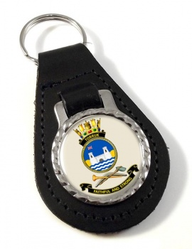 HMAS Tobruk Leather Key Fob