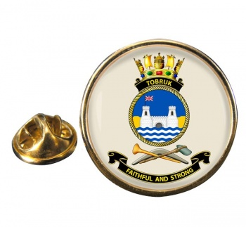 HMAS Tobruk Round Pin Badge
