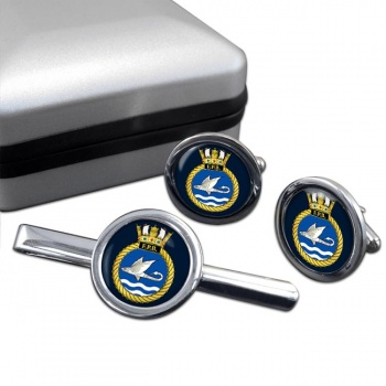 HM Fast Patrol Boats (Royal Navy) Round Cufflink and Tie Clip Set