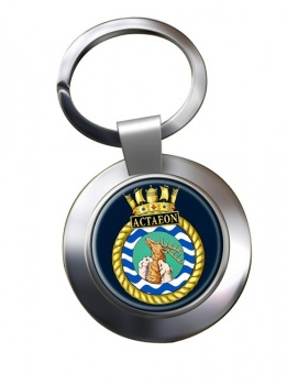 HMS Actaeon (Royal Navy) Chrome Key Ring