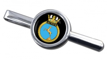 HMS Active (Royal Navy) Round Tie Clip