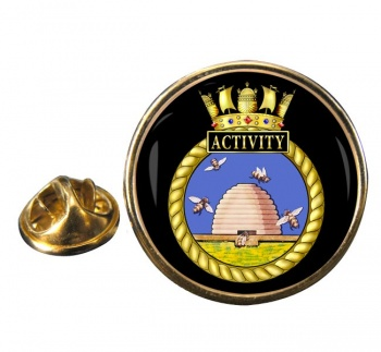 HMS Activity (Royal Navy) Round Pin Badge