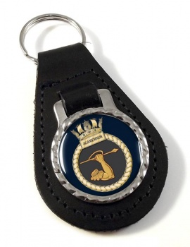 HMS Agamemnon (Royal Navy) Leather Key Fob