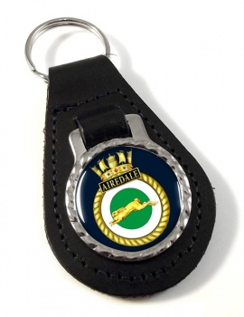 HMS Airedale (Royal Navy) Leather Key Fob