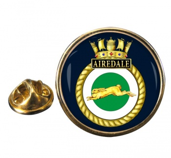 HMS Airedale (Royal Navy) Round Pin Badge