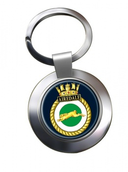 HMS Airedale (Royal Navy) Chrome Key Ring