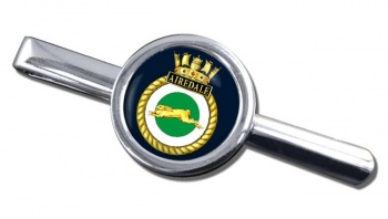HMS Airedale (Royal Navy) Round Tie Clip
