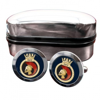 HMS Ajax (Royal Navy) Round Cufflinks