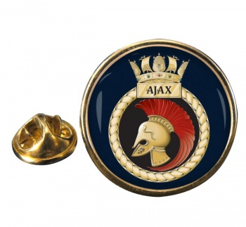 HMS Ajax (Royal Navy) Round Pin Badge