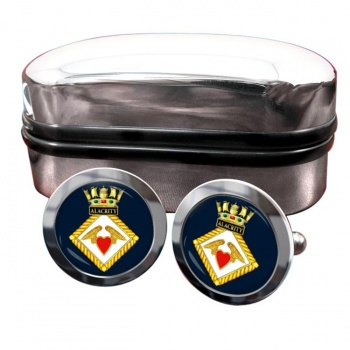 HMS Alacrity (Royal Navy) Round Cufflinks