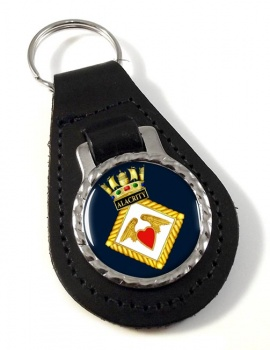 HMS Alacrity (Royal Navy) Leather Key Fob