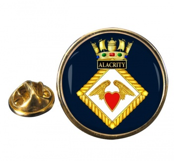 HMS Alacrity (Royal Navy) Round Pin Badge