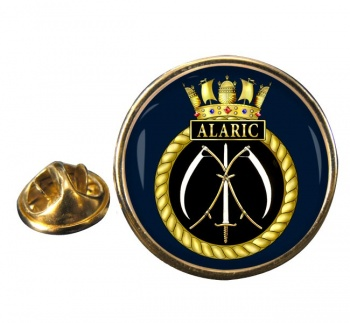 HMS Alaric (Royal Navy) Round Pin Badge