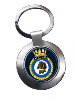 HMS Alaunia (Royal Navy) Chrome Key Ring