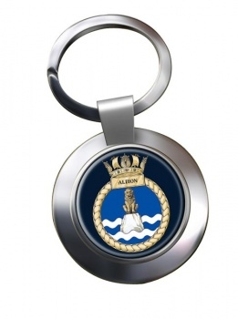 HMS Albion (Royal Navy) Chrome Key Ring