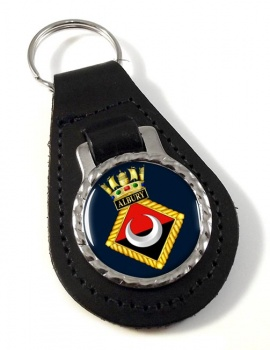 HMS Albury (Royal Navy) Leather Key Fob