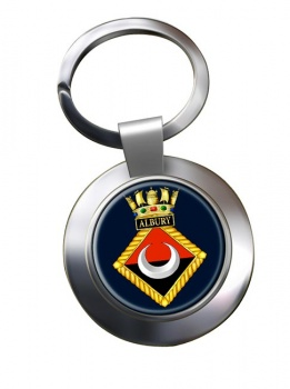 HMS Albury (Royal Navy) Chrome Key Ring