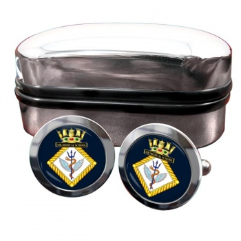 Air Medical School Royal Navy Round Cufflinks