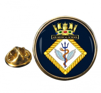 Air Medical School Royal Navy Round Pin Badge