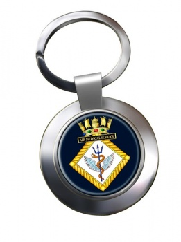 Air Medical School Royal Navy Chrome Key Ring