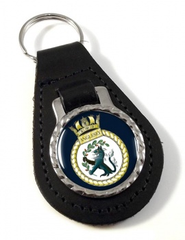HMS Anglesey (Royal Navy) Leather Key Fob