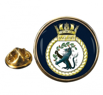 HMS Anglesey (Royal Navy) Round Pin Badge