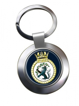 HMS Anglesey (Royal Navy) Chrome Key Ring