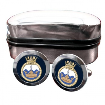 HMS Anson (Royal Navy) Round Cufflinks