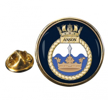 HMS Anson (Royal Navy) Round Pin Badge