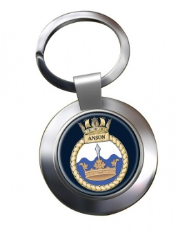HMS Anson (Royal Navy) Chrome Key Ring