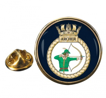 HMS Archer (Royal Navy) Round Pin Badge