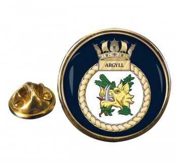 HMS Argyll (Royal Navy) Round Pin Badge